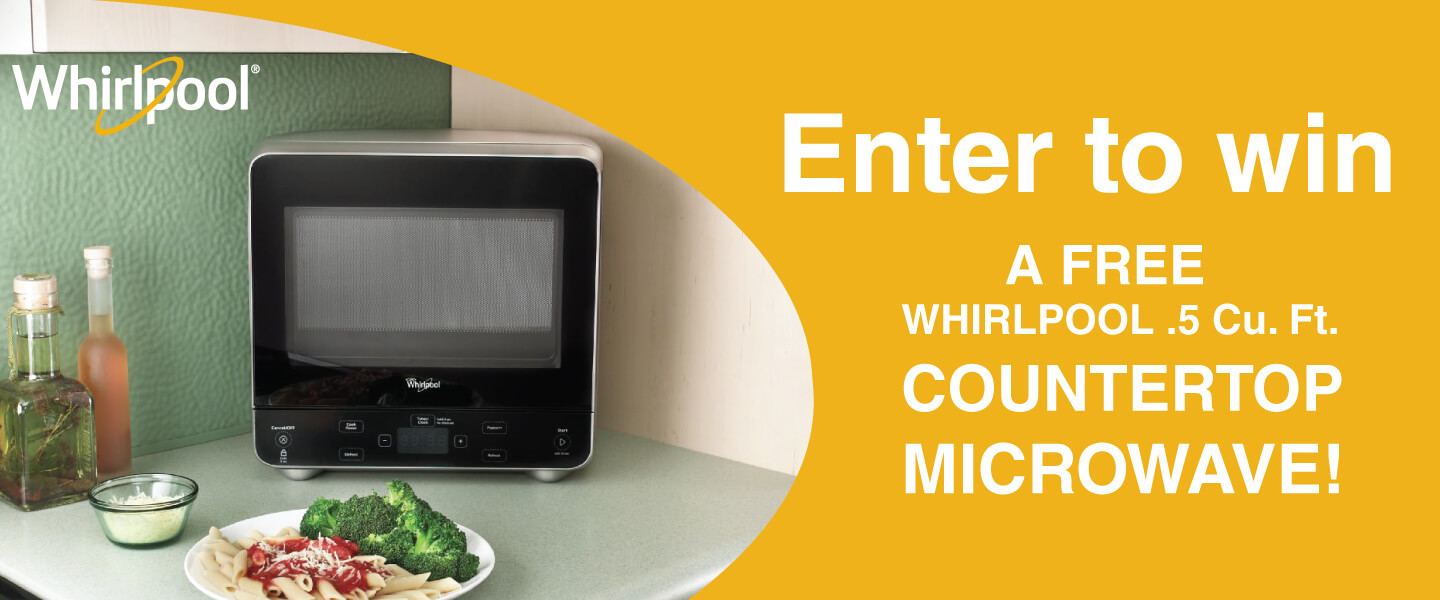 Enter To Win A Free Whirlpool Countertop Microwave